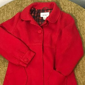 Cherokee Girls' Coat with plaid lining